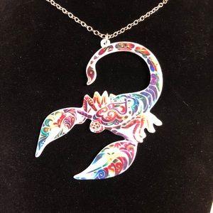 Large acrylic scorpion necklace